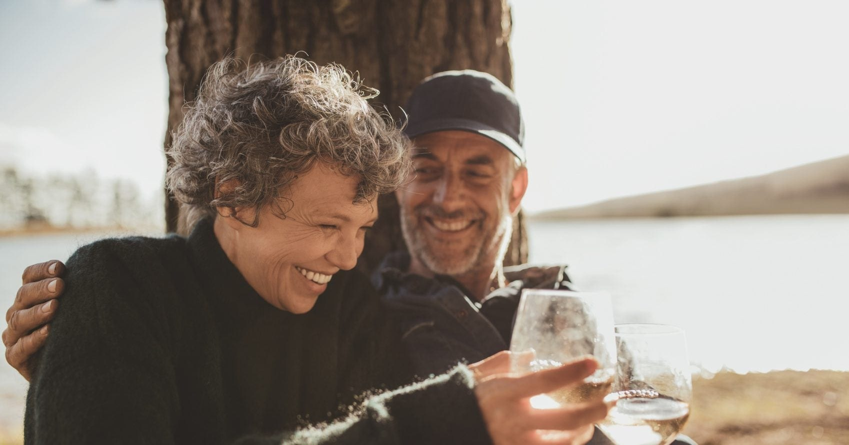 Mature Couple With Alcohol Stock Photo