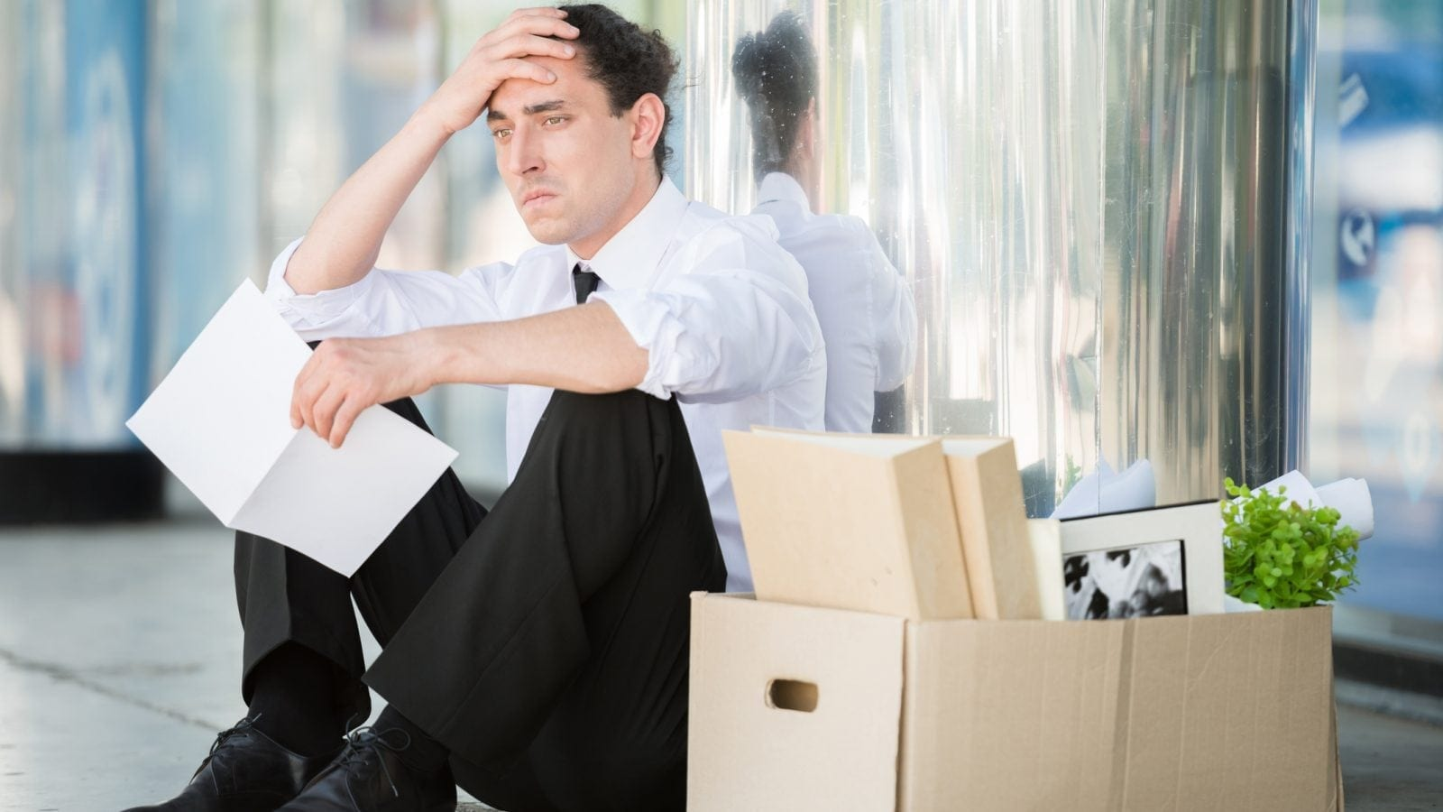 Man Losing His Job Stock Photo