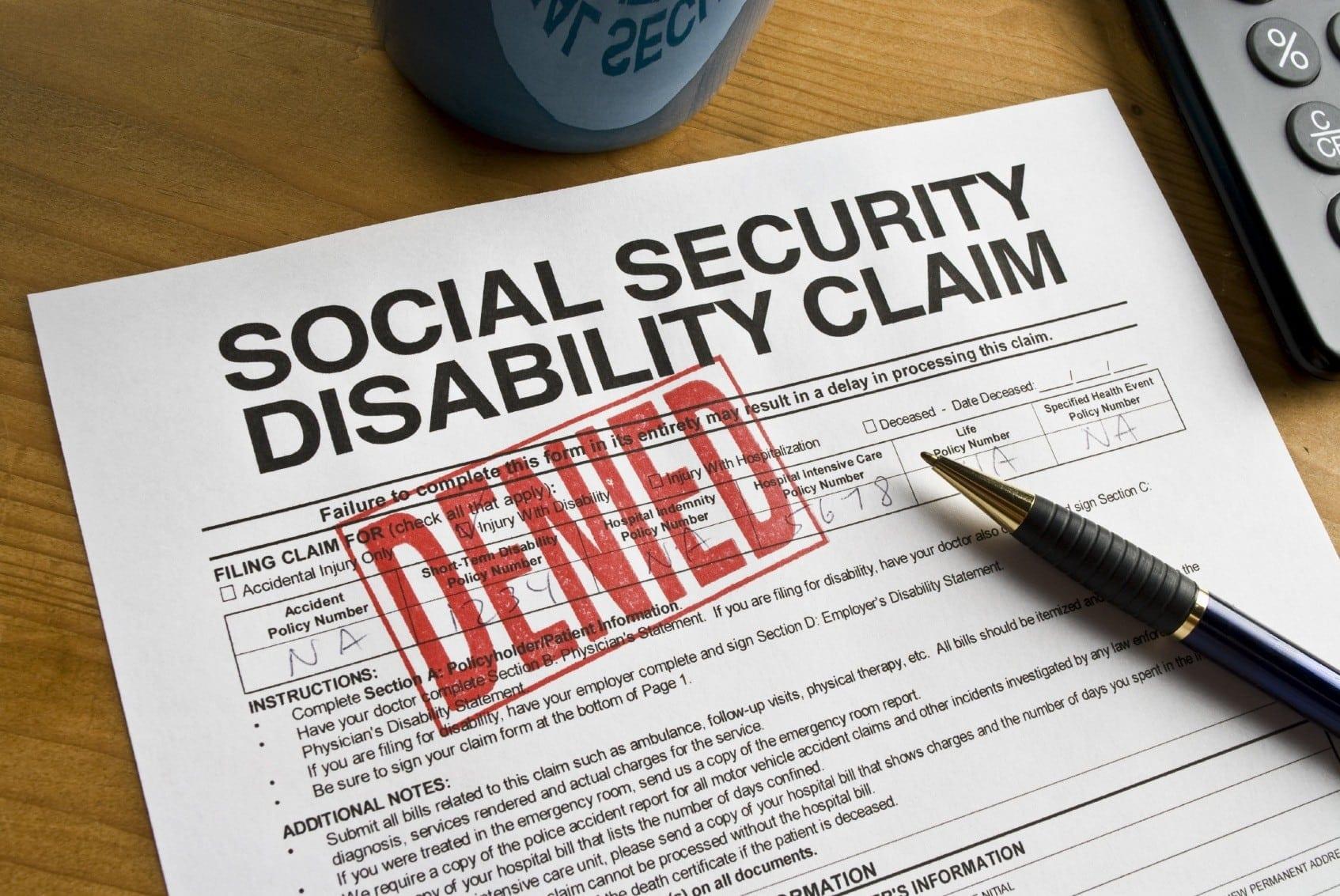 Social Security Disability Claim Denied Stock Photo