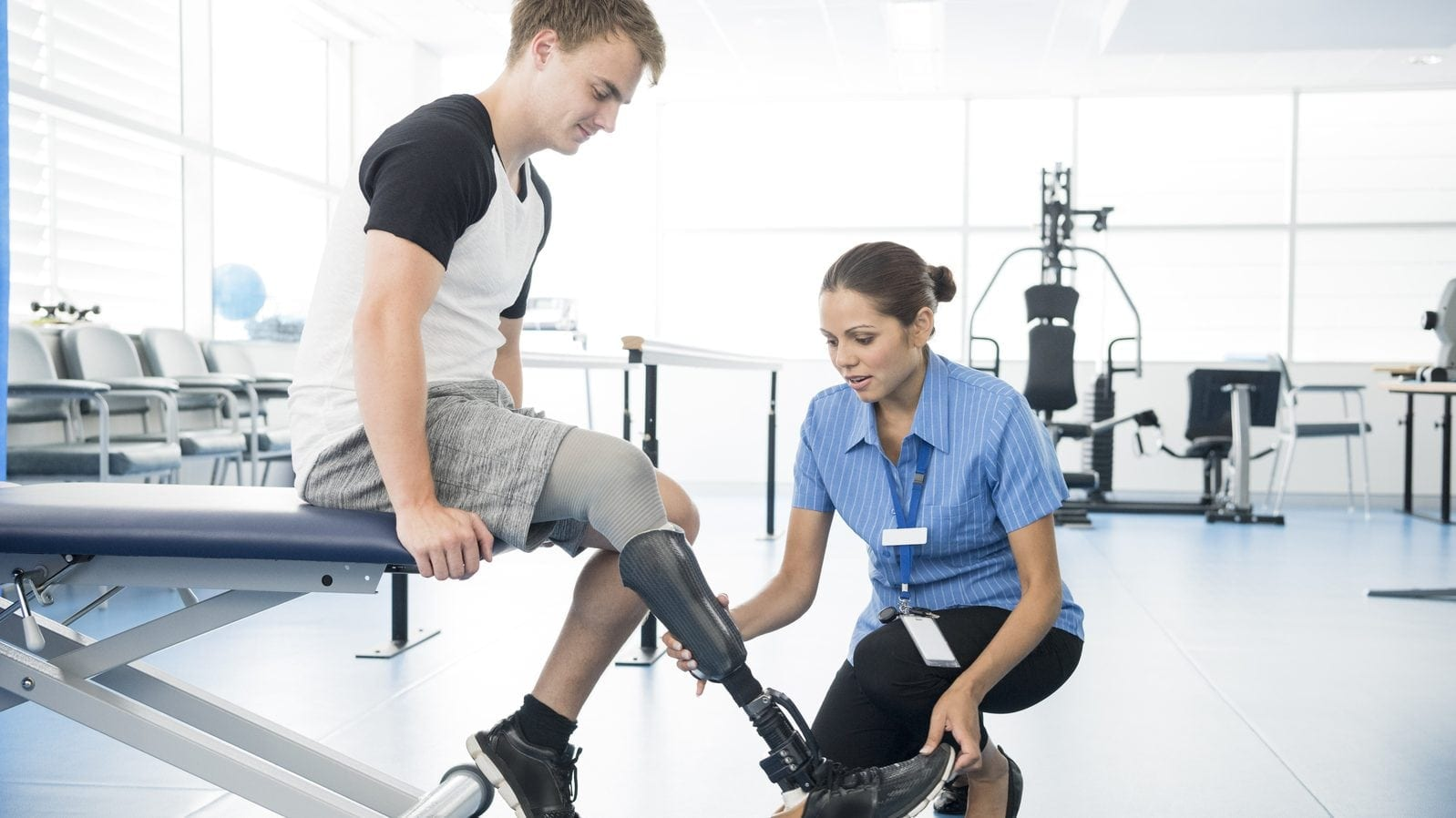 Amputee Rehabilitation Stock Photo