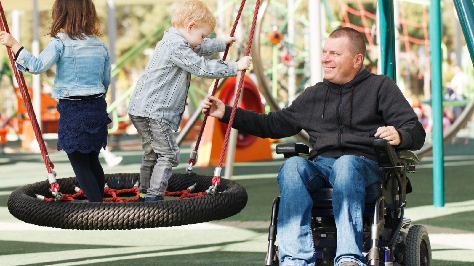 Disabled Father Stock Photo