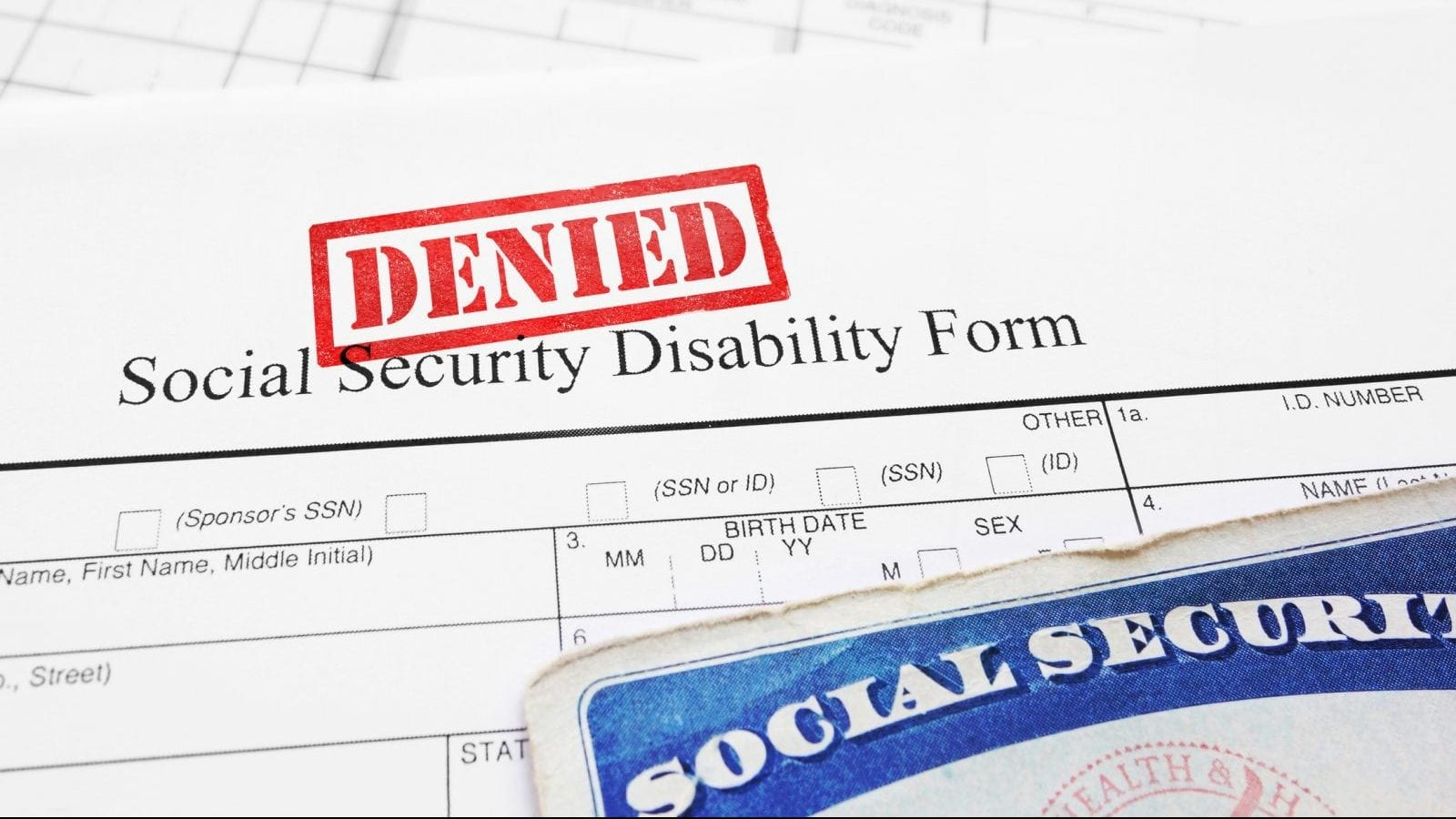 Social Security Disability Application Denied Stock Photo