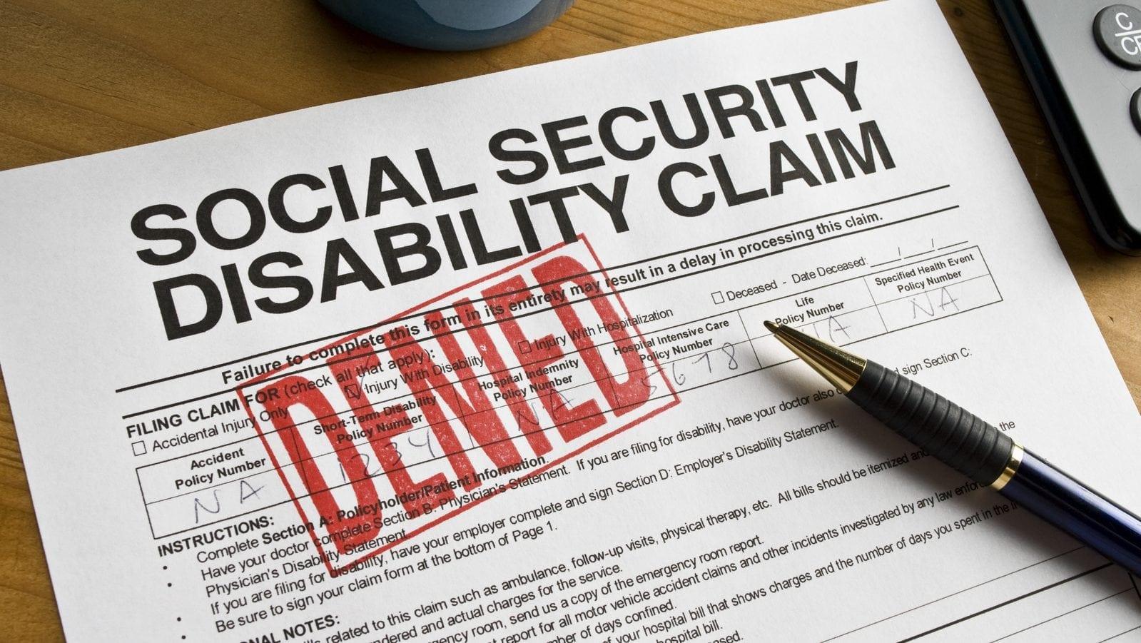 Social Security Disability Claim Denial Stock Photo