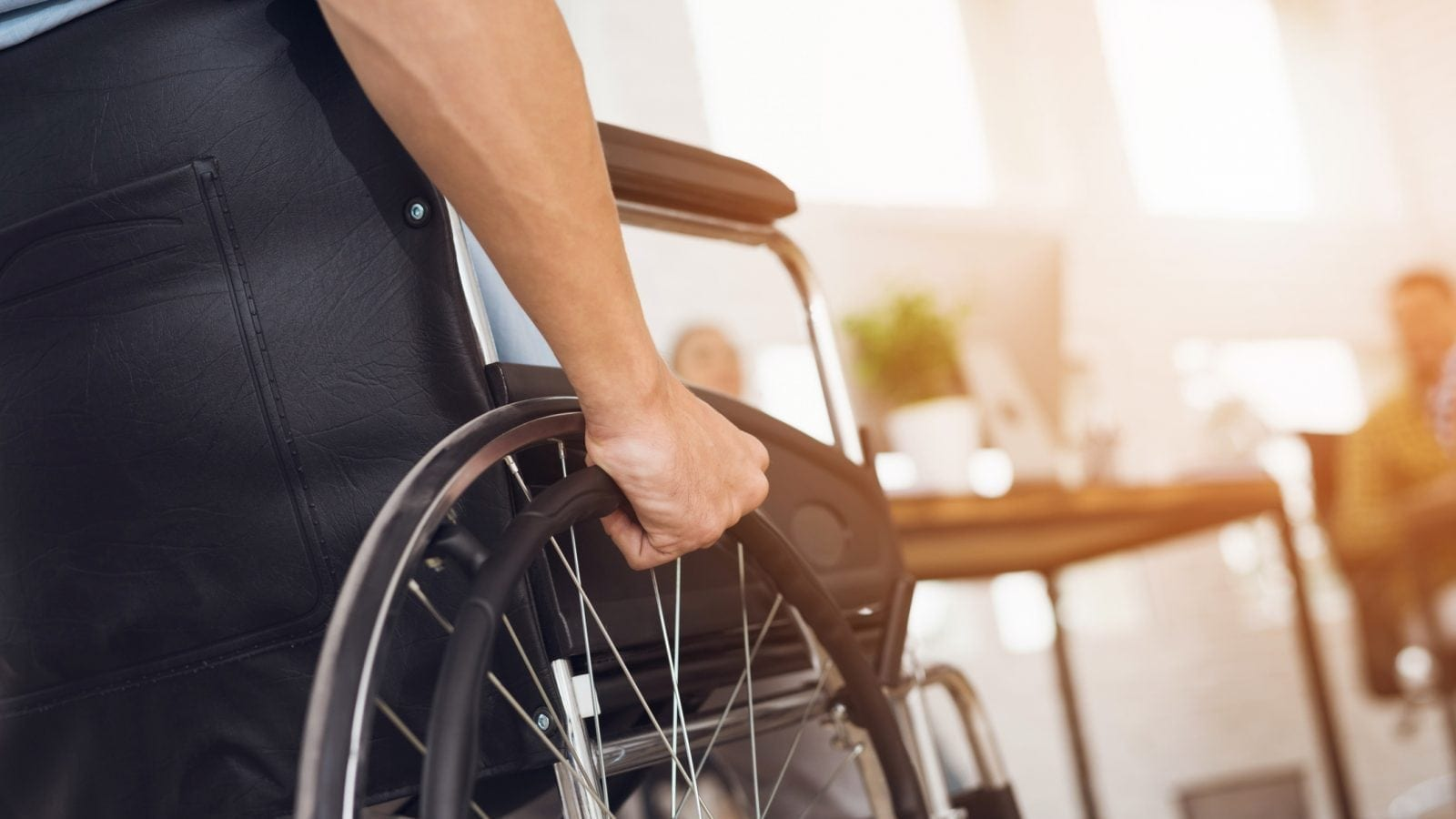 Disabled Man Wheelchair Stock Photo