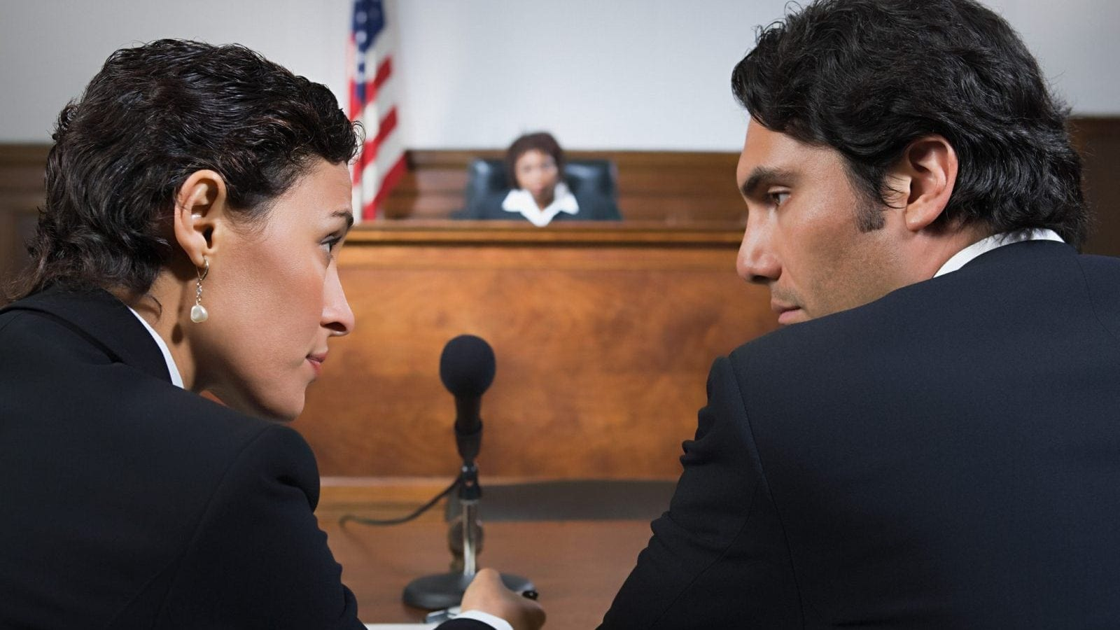 Lawyer And Client Talking Stock Photo