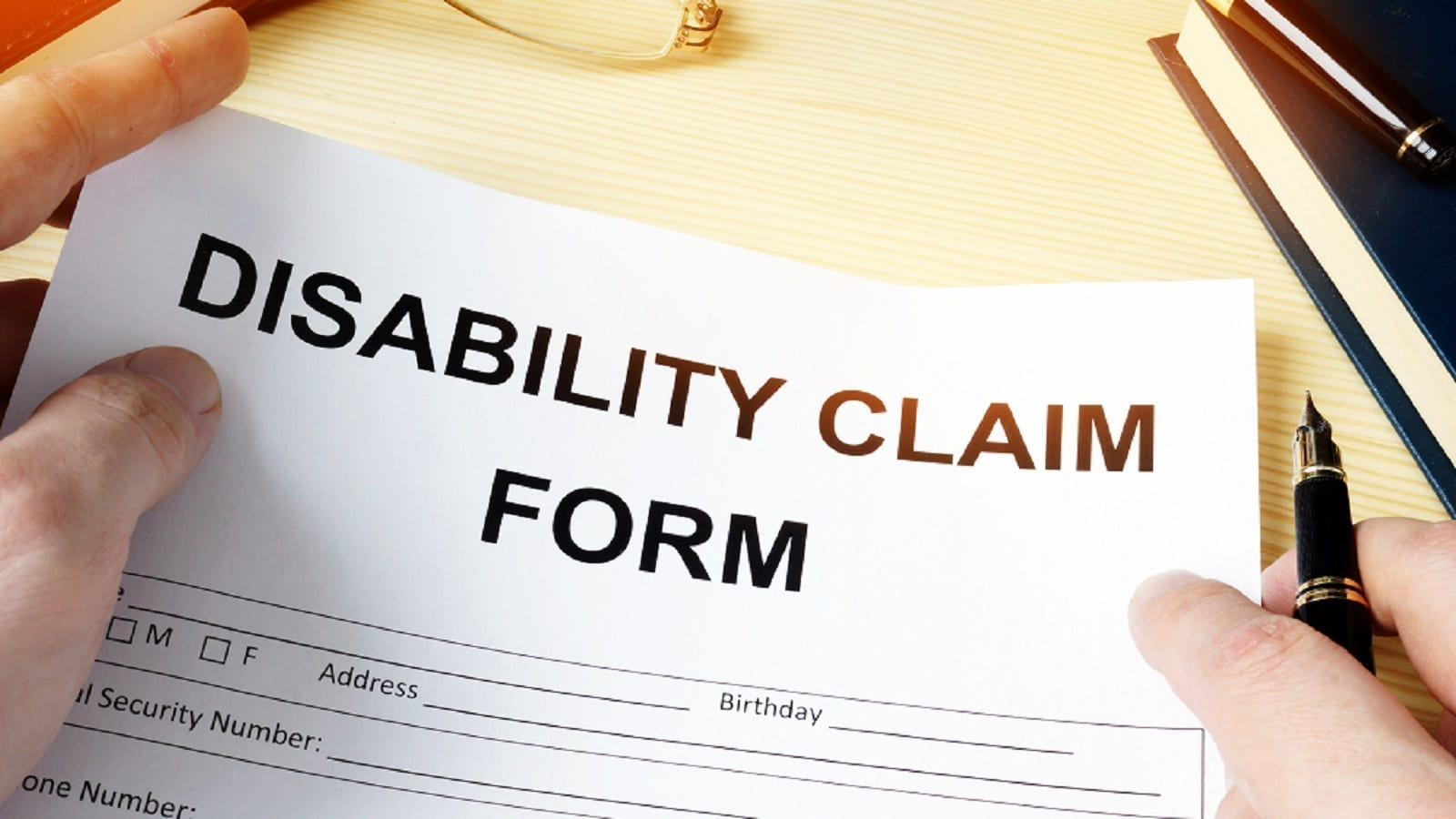 Disability Claim Form Stock Photo