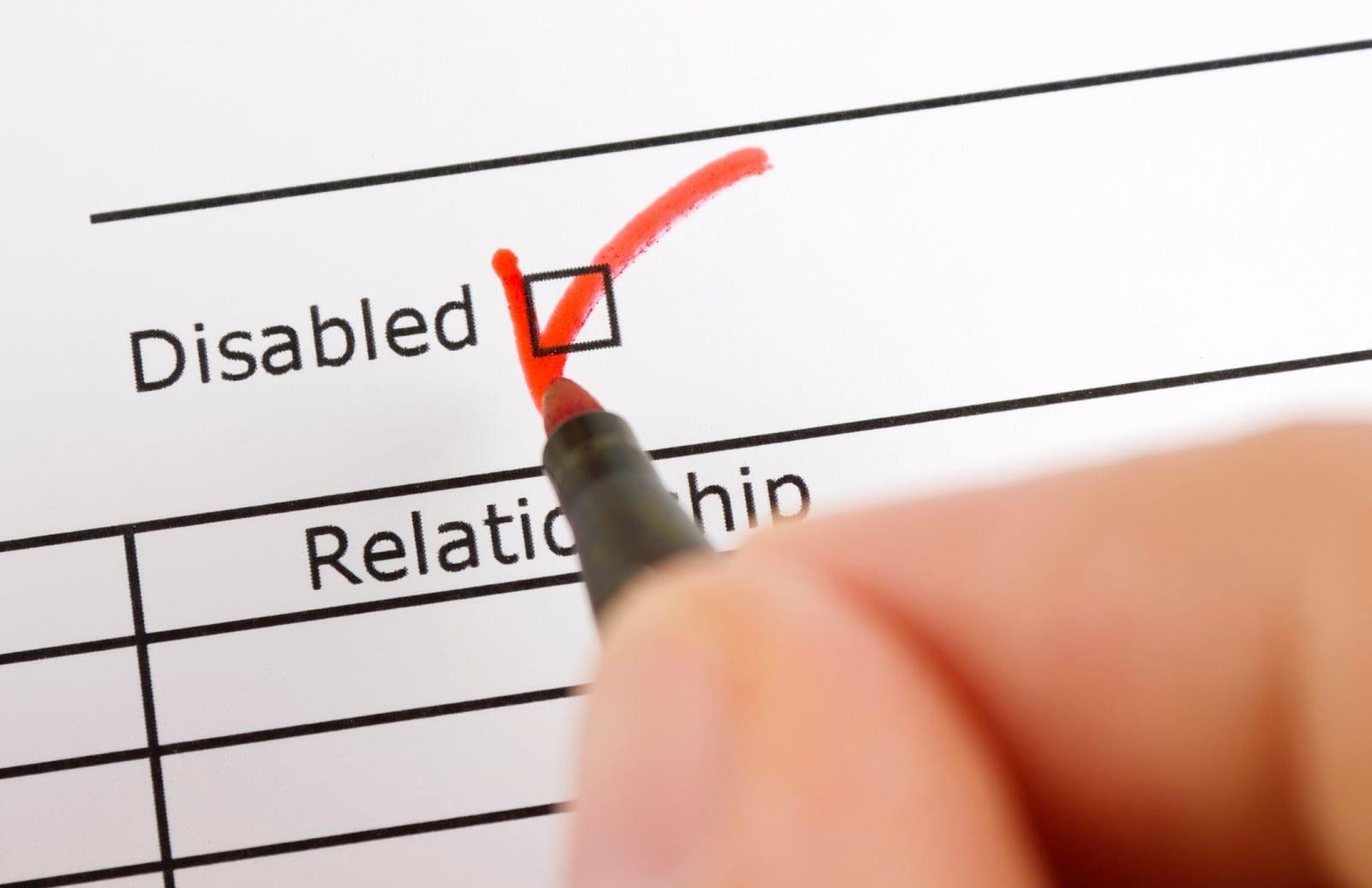 Disabled Check Box Stock Photo