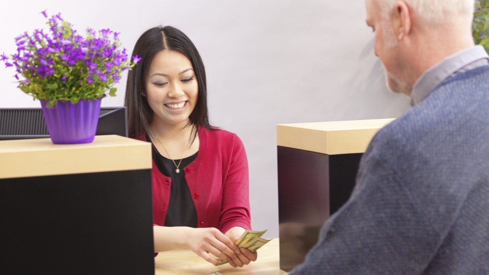 Bank Teller Stock Photo