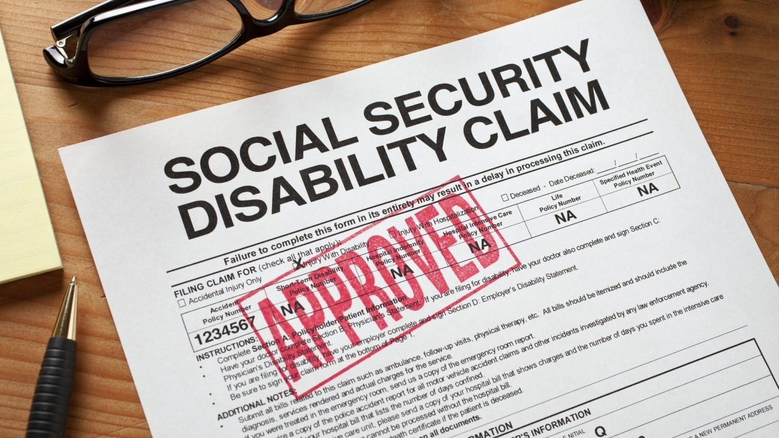 Approved Social Security Disabilty Form