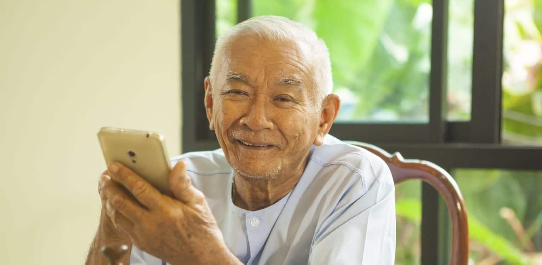 Asian Senior Citizen Smiling