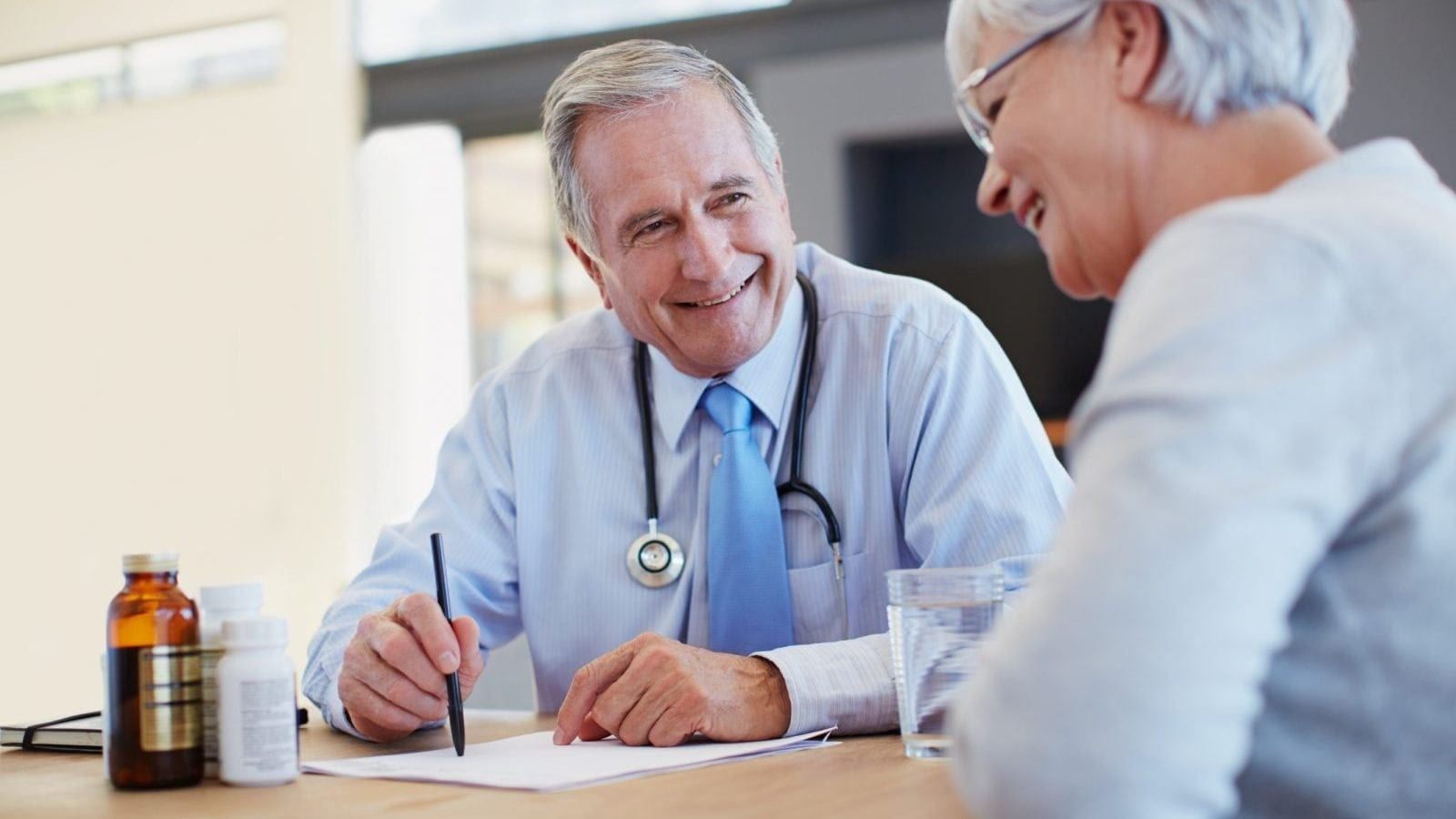 Doctor Meeting With Patient Stock Photo