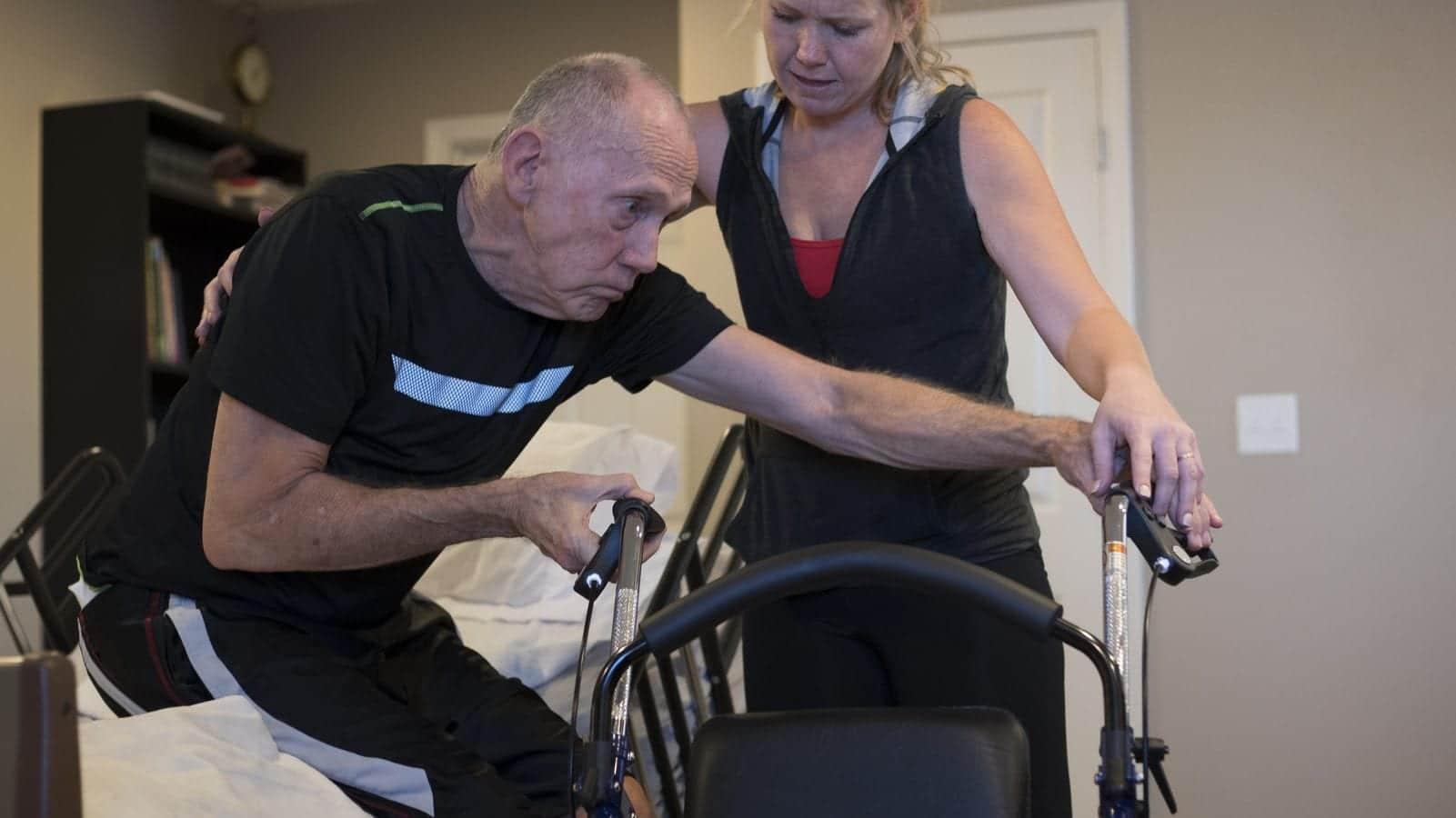 Parkinson's Disease - Walker Stock Photo