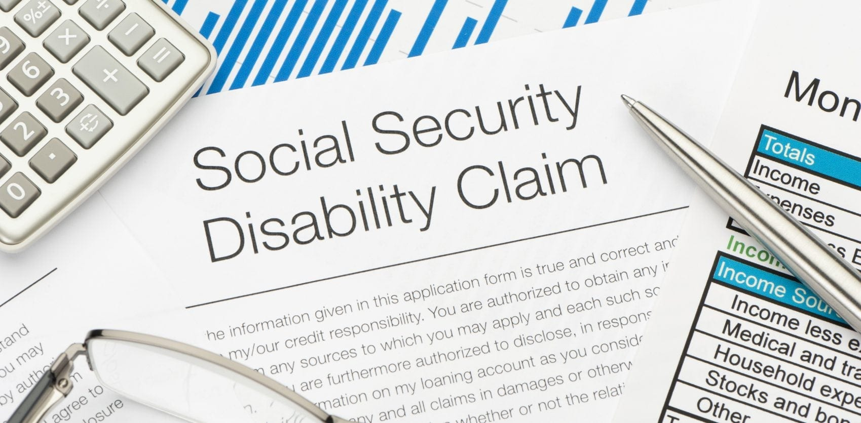 Social Security Disability Claim Stock Photo