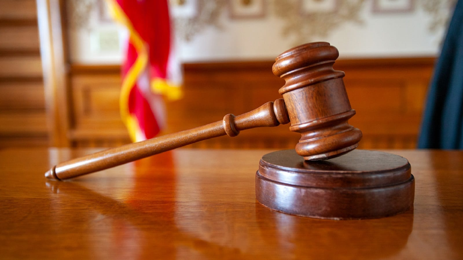 Courtroom Legal Gavel Stock Photo