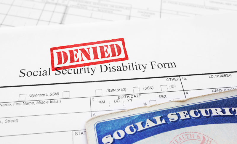 Denied Social Security Disabilty Application