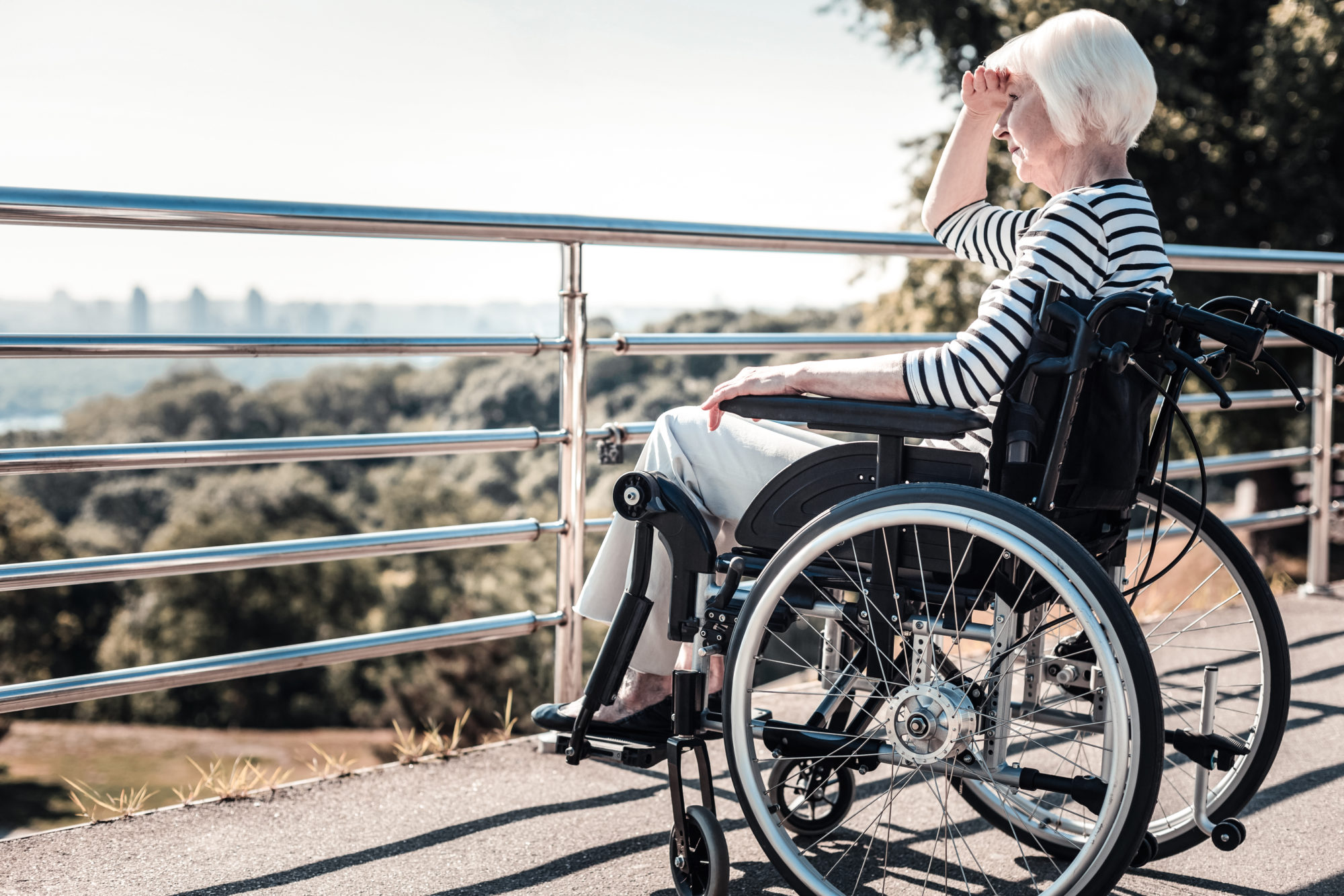 a woman with a disability in Los Angeles
