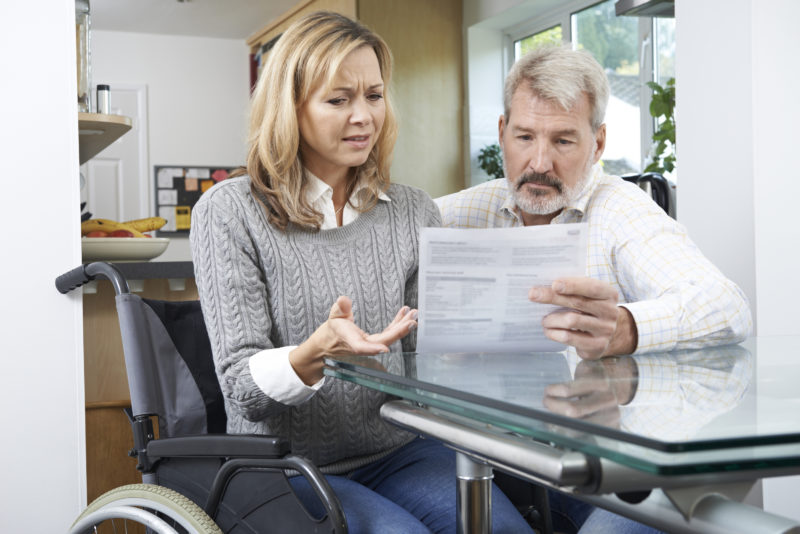 a disabled person receiving their notification letter form the SSA